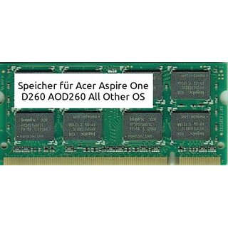 2Gb Acer Aspire One D260 AOD260 DDR2 All Other OS DDR2