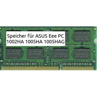 2GB FÃ?R ASUS Eee PC 1002HA 1005HA 1005HAG