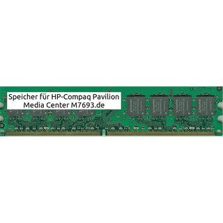 8Gb 4x 2Gb Ram HP-Compaq Pavilion Media Center M7693.de DDR2 800Mhz