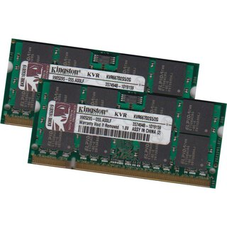 Kingston 4GB 2x 2GB DDR2 667MHz SO-DIMM Notebook Laptop Speicher Ram PC-5300 200P